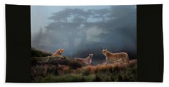 Cheetahs In The Mist Beach Sheet