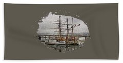 Chelsea Rose And Tall Ships Beach Towel