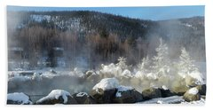 Chena Hot Springs Fairbanks Alaska Beach Towel by Jani Freimann