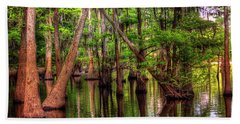 Louisiana Cheniere Lake Bayou Beach Towel by Ester Rogers