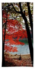 Beach Towel featuring the photograph Cherokee Lake Color by Douglas Stucky