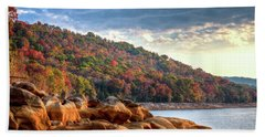 Beach Towel featuring the photograph Cherokee Lake Color II by Douglas Stucky