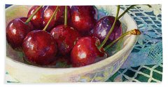 Cherries Jubilee Beach Towel
