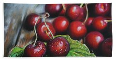Cherries Beach Towel