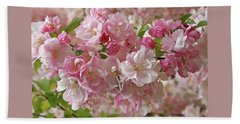 Beach Towel featuring the photograph Cherry Blossom Closeup by Gill Billington