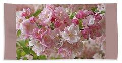 Beach Sheet featuring the photograph Cherry Blossom Closeup by Gill Billington