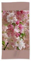 Beach Sheet featuring the photograph Cherry Blossom Closeup Vertical by Gill Billington