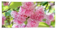 Cherry Blossom Cluster Beach Sheet