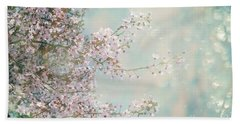 Beach Towel featuring the photograph Cherry Blossom Dreams by Linda Lees