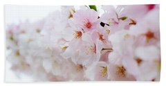 Cherry Blossom Focus Beach Sheet
