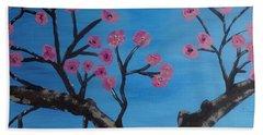 Cherry Blossoms II Beach Sheet