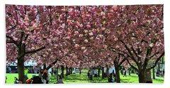 Cherry Blossom Trees Of B B G # 7 Beach Sheet
