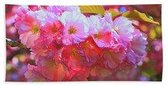 Cherry Blossom Trees Of B B G #3 Beach Sheet