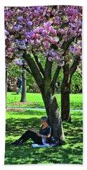Cherry Blossom Trees Of B B G #1 Beach Towel
