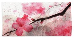 Cherry Blossoms 1 Beach Sheet