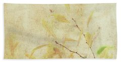 Cherry Branch On Rice Paper Beach Towel