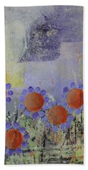 Cheery Flowers Beach Towel