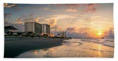 Cherry Grove Panoramic Sunrise Beach Towel