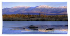 Cherry Pond Reflections Panorama Beach Towel