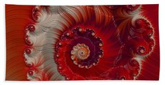 Beach Towel featuring the digital art Cherry Swirl by Kathy Kelly
