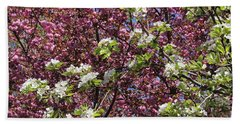Cherry Tree And Pear Blossoms Beach Towel
