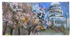 Cherry Tree Blossoms In Washington Dc Beach Towel