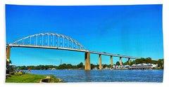 Chesapeake City Bridge  Beach Towel