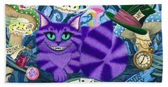 Cheshire Cat - Alice In Wonderland Beach Towel