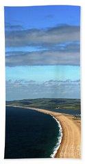 Chesil Beach Beach Sheet by Baggieoldboy