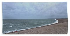 Chesil Beach November 2013 Beach Towel