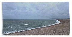 Chesil Beach November 2013 Beach Towel by Anne Kotan