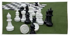 Chess Pieces Beach Towel
