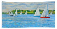Chester Races Off Freda's Peninsula Beach Towel
