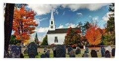 Chester Village Cemetery In Autumn Beach Sheet