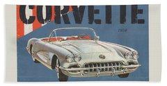 Chevrolet Corvette 1958 Beach Towel