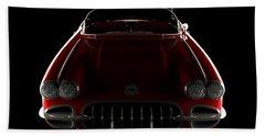 Chevrolet Corvette C1 - Front View Beach Towel