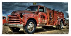Chevrolet Fire Truck Beach Sheet