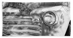 Chevrolet Flatbed Truck Bw Beach Towel