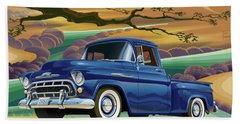 1957 Chevrolet 3100 Truck Under A California Oak Beach Towel