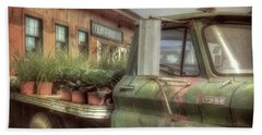 Beach Towel featuring the photograph Chevy C 30 Pickup Truck - Colby Farm by Joann Vitali