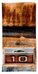 Chevy C10 Rusted Emblem Beach Towel