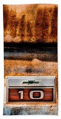 Chevy C10 Rusted Emblem Beach Towel