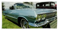 Beach Towel featuring the photograph Chevy Classic by Nick Boren