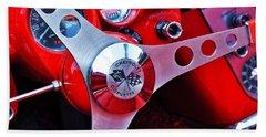 Chevy Corvettte Steering Wheel Beach Sheet