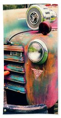 Beach Towel featuring the photograph Chevy Firetruck  by Ayasha Loya