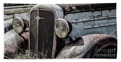 Beach Towel featuring the photograph Chevy Grill IIi by Brad Allen Fine Art