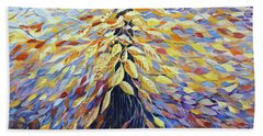 Beach Towel featuring the painting Chi Of The Mighty Tree by Joanne Smoley