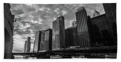 Chi Sunrise Black And White Beach Towel