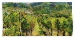 Chianti Vineyards Beach Sheet by Dragica Micki Fortuna