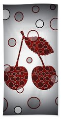 Chic Cherries Beach Towel
